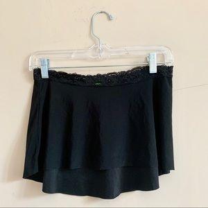 Black lace waistband ballet skirt